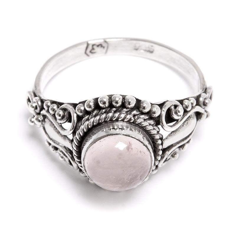 Rosenkvarts, ring silver filigran