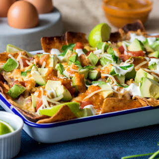 Breakfast Nachos with Chorizo and Egg