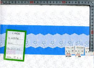 Photo: №09524-008綿レース:巾40mm