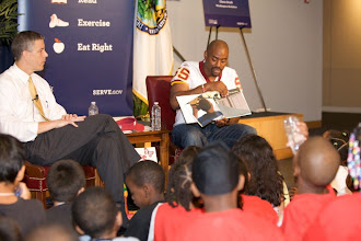Photo: Let's Read! Let's Move! AD & Chris Draft