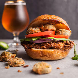 Southwest Fried Chicken Sandwich with Fried Jalapenos.