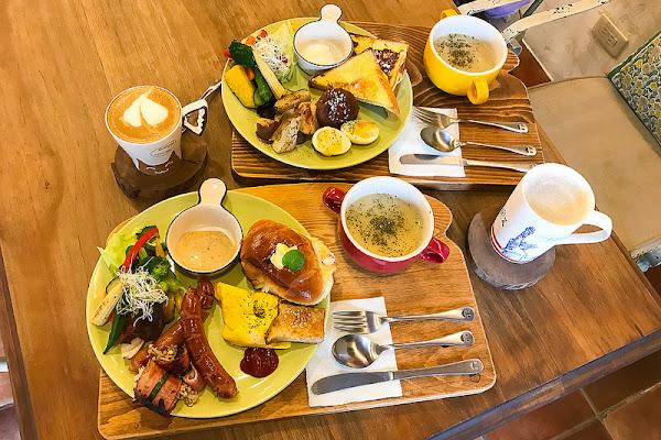 小花花咖啡 歐式鄉村風裝潢 早午餐豐盛好吃!CP值不錯!低調好店!