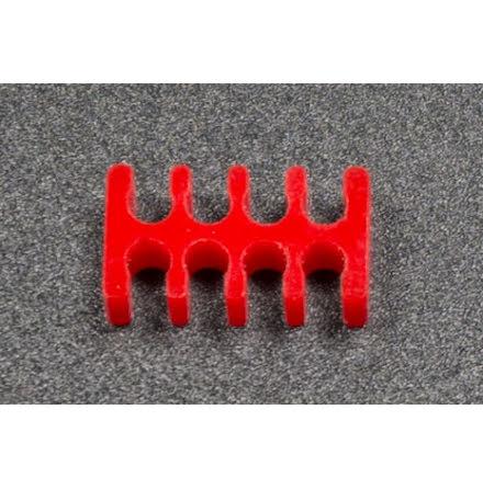 Kabelkam for 8 pins kabel, 2x4 Ø4mm spor, rød