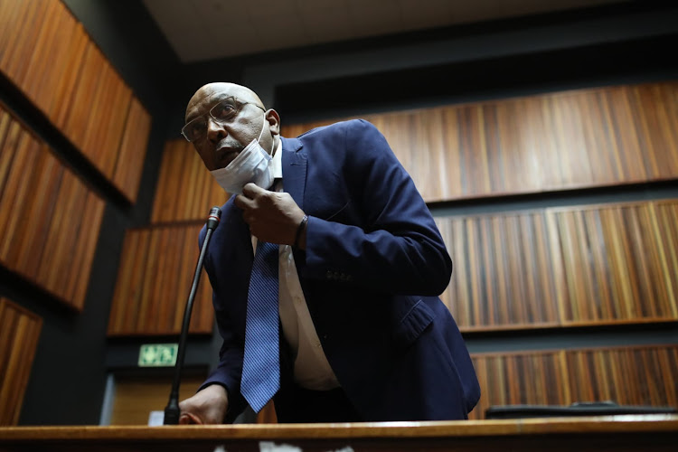 Former ANC MP Vincent Smith appears at the Palm Ridge magistrate's court on Thursday, October 1 2020.