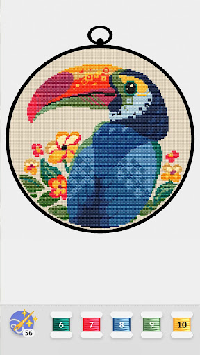 Cross Stitch Club u2014 Color by Numbers with a Hoop apktram screenshots 3