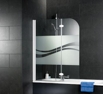 Pare-baignoire Liane, 112 cm, 2 volets
