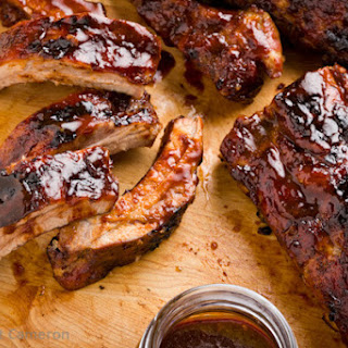 Oven Baby Back Ribs with Hoisin-Bourbon Sauce