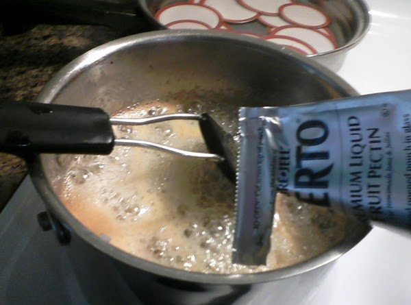 Over high heat, stirring constantly, bring to a full boil that cannot be stirred...