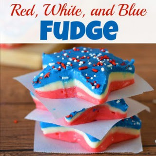 Patriotic Red, White, and Blue Fudge.