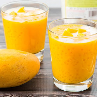 Tapioca Pearls with Mango.