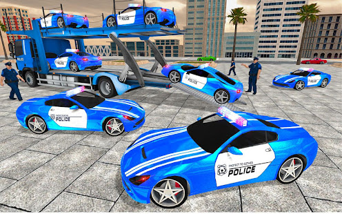 Download US Police Transporter Truck: Car Driving Games For PC Windows and Mac apk screenshot 5