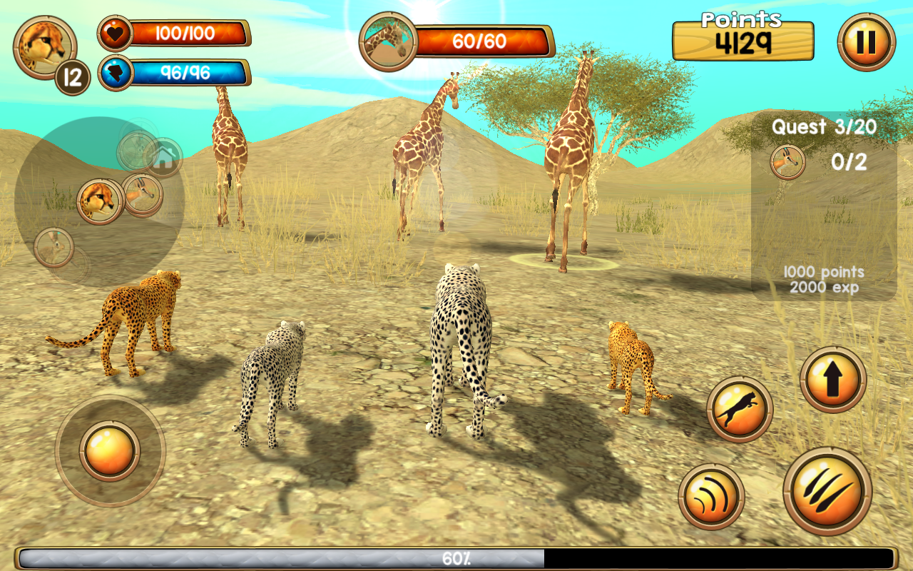 Wild cheetah sim 3d android apps on google play for Simulatore 3d