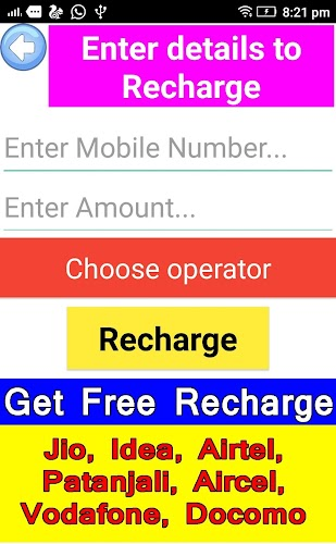 Free Recharge: Jio, Airtel,Idea,Vodafone,Patanjali APK | APKPure ai