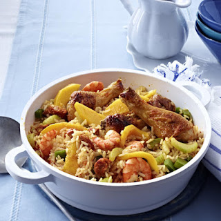 Chicken, Prawn and Mango Jambalaya.