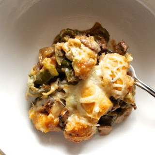 Philly Cheese Steak Bubble Up Casserole.