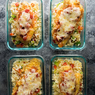 Mexican Chicken and Cauliflower Rice Meal Prep Bowls Recipe