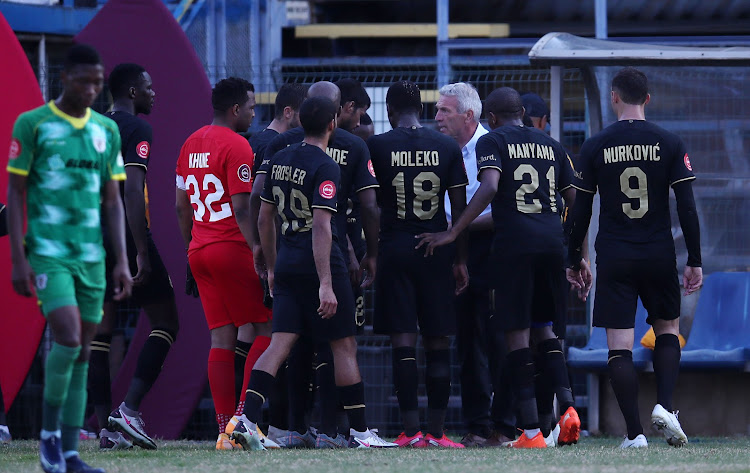 Middendorp bemused after his players 'stepped back' instead of pushing for  a second goal against Baroka