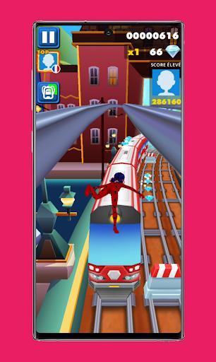 subway Lady Endless jump V3: cat runner noir jogos apktram screenshots 5