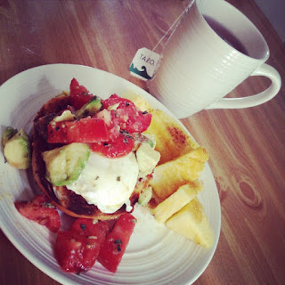 Poached Eggs with Avocados + Tomatoes