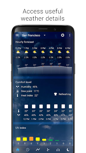 Transparent clock & weather - forecast & radar screenshot 12