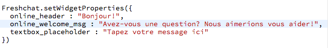 Type your message in French code screen.png