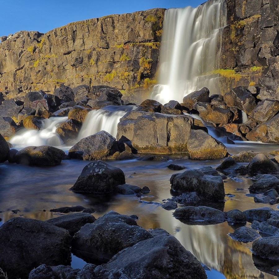 Iceland by Jaro Miščevič - Landscapes Waterscapes ( water, waterscape, waterfall, reflections, stones, colours )