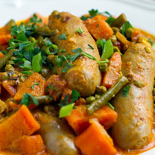 20-Minute Curried Sausages & Peas (Instant Pot Recipe).