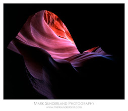 Photo: Silk In The Wind  Here's another old one that I shot on a Nigel Turner workshop quite a few years ago now. I'd not been down a slot canyon before, so it was quite an experience and quite demanding photographically, with a wealth of abstract compositions available in any direction.  Here, peering up from the floor of the slot canyon towards the summer sunshine above produced this abstract swirling image. When I returned from my trip I showed it to a friend who said that it looked like silk blowing in the wind, so I chose that as the title...  Pentax 67, 55mm, Fuji Vevia 50, 8s at f22