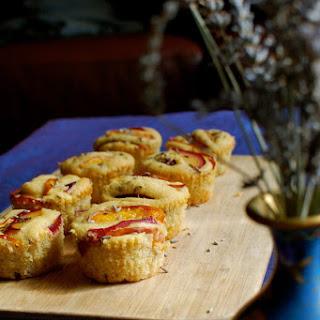 Lavender Cardamom Nectarine Muffins