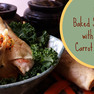 Crispy Baked Spring Rolls with Turkey, Zucchini and Carrot
