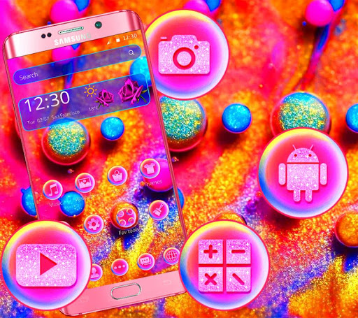 Colorful Shining Glitter Ball Theme ss1