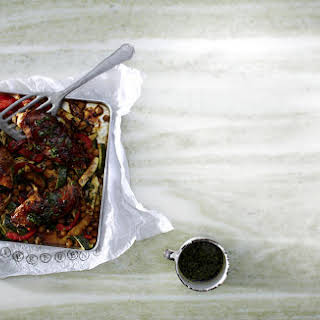 Roasted Soy-Ginger Chicken and Vegetable.
