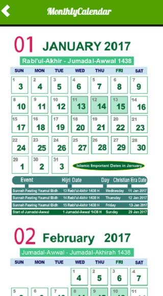 2018 calendar islamic date