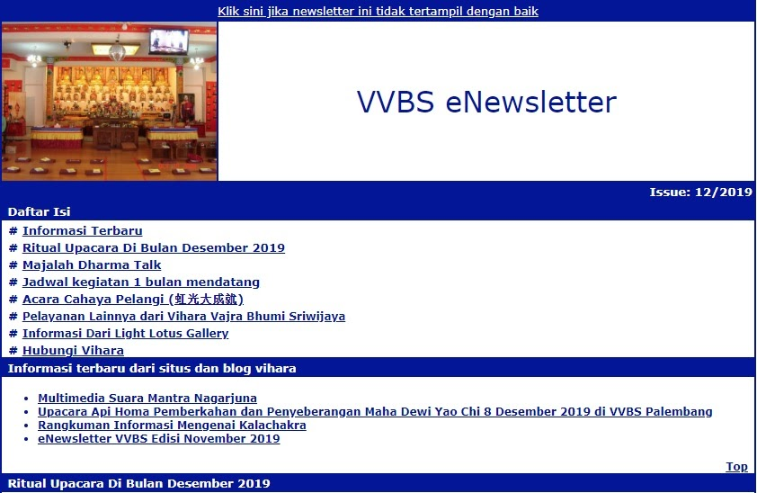 Newsletter Desember 2019