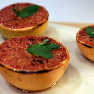 Broiled Grapefruit with Mint Recipe