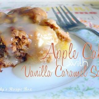 Apple Cake with Vanilla Caramel Sauce.