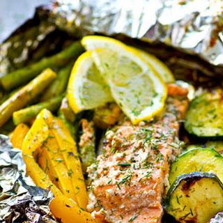 Lemon Dill Grilled Salmon Veggie Packets