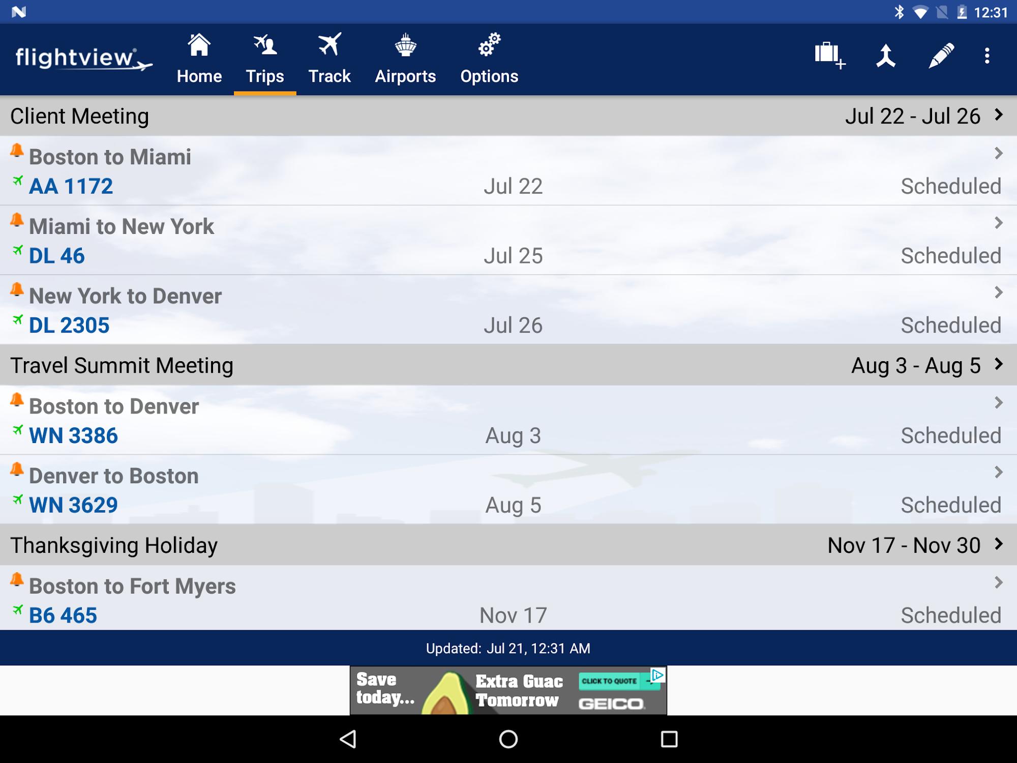 FlightView Free Flight Tracker screenshot #17