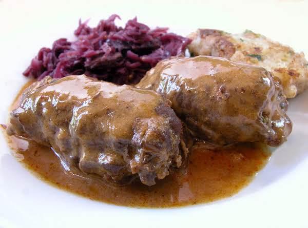 German Rouladen / Beef Roll-ups Recipe