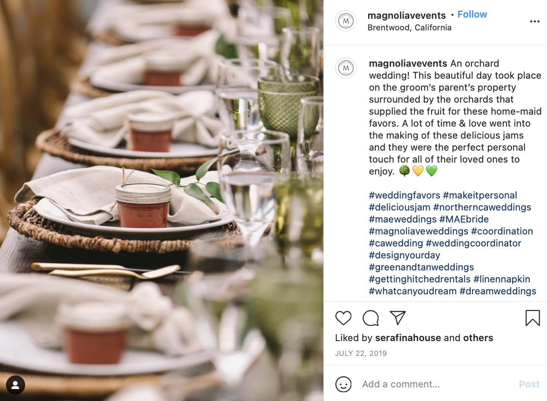 tan and greens wedding table