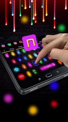 Sparkle Neon Lights  Keyboard Theme 10001004 screenshots 2