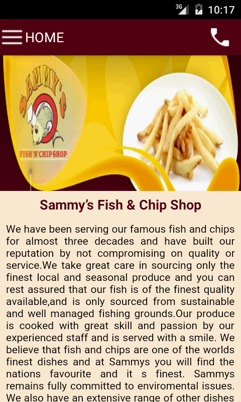 Sammy's Fish & Chip Shop- screenshot