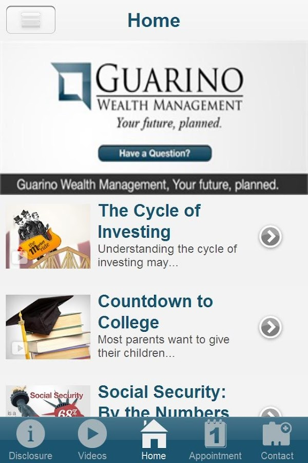 Guarino Wealth Management- screenshot