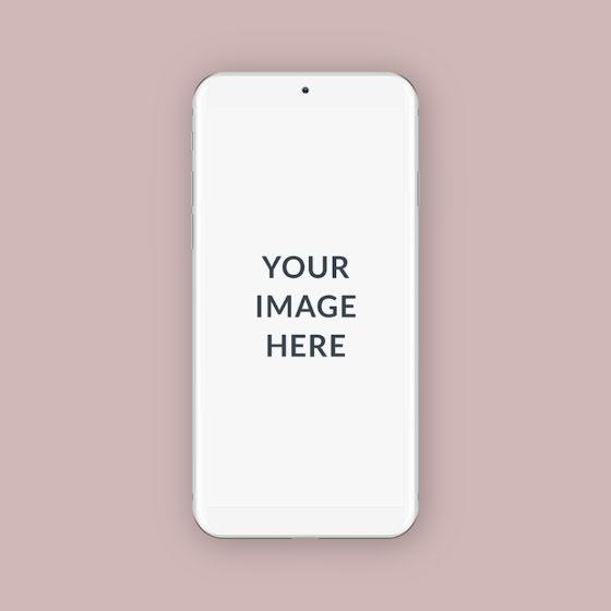 Square Phone Mockup - Instagram Post Template