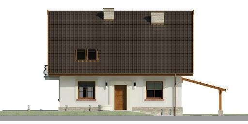 Dom przy Cyprysowej 52 - Elewacja przednia