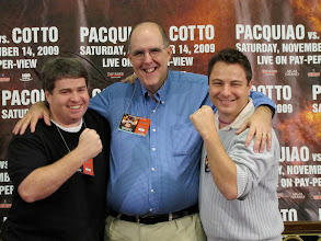 Photo: Dan Wetzel, Martin Rogers and I covered the Pacquiao-Cotto fight together in Las Vegas.