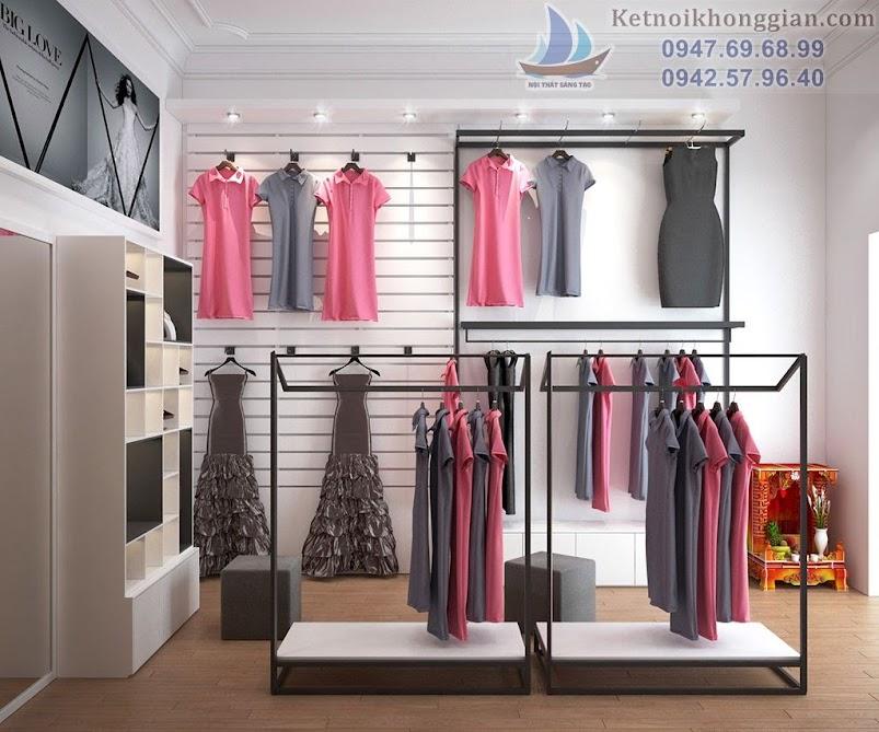 thiết kế cửa hàng váy dạ hội chất lượng cao