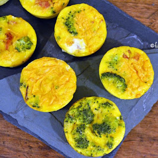 Bacon Broccoli Cheddar Egg Muffins {dairy free, gluten free, paleo option}