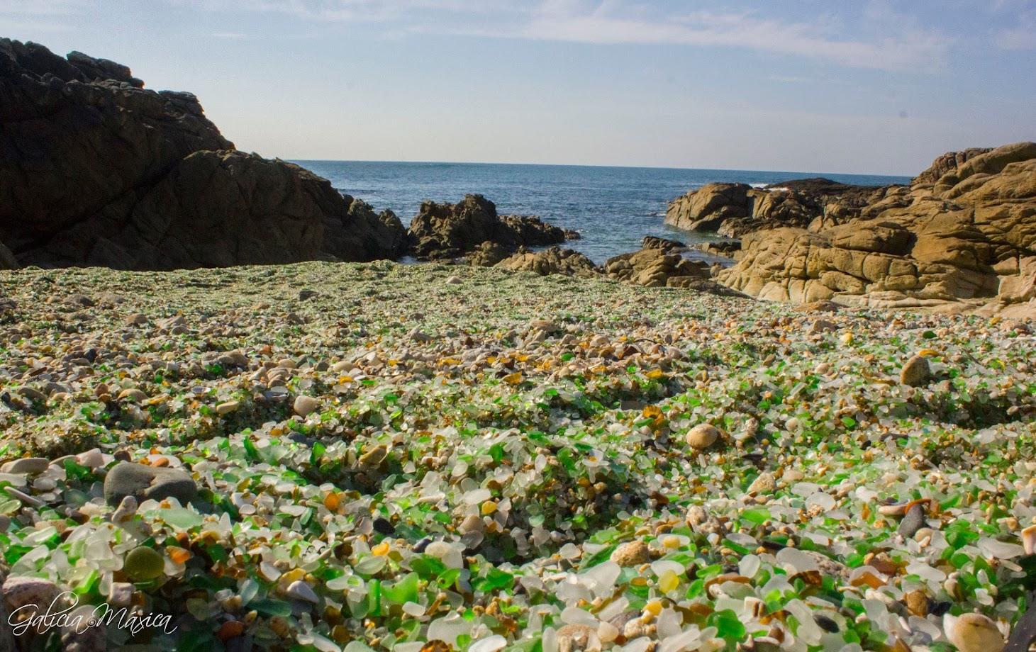 Playa de los Cristales de Laxe