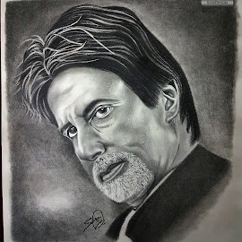 Sketch Of Amitabh Bachchan by Siddhartha Sinha - Drawing All Drawing ( art, drawing, artwork, sketch, pencil )